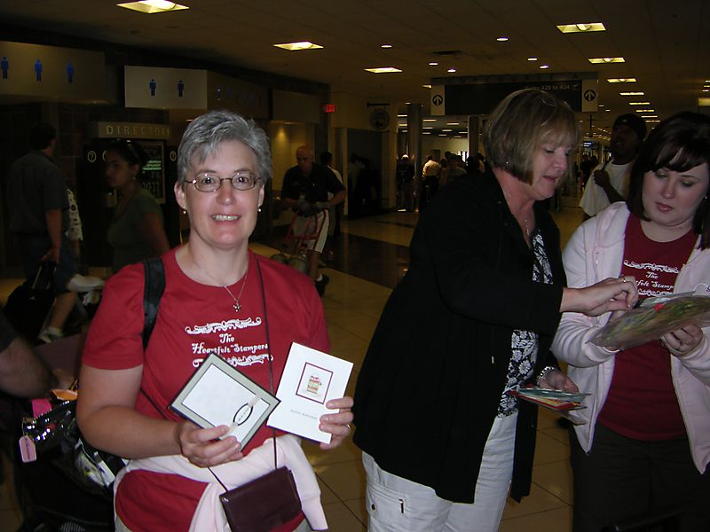 Christine swapping at airport