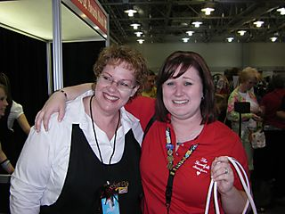 Aly and Terri at awards booth