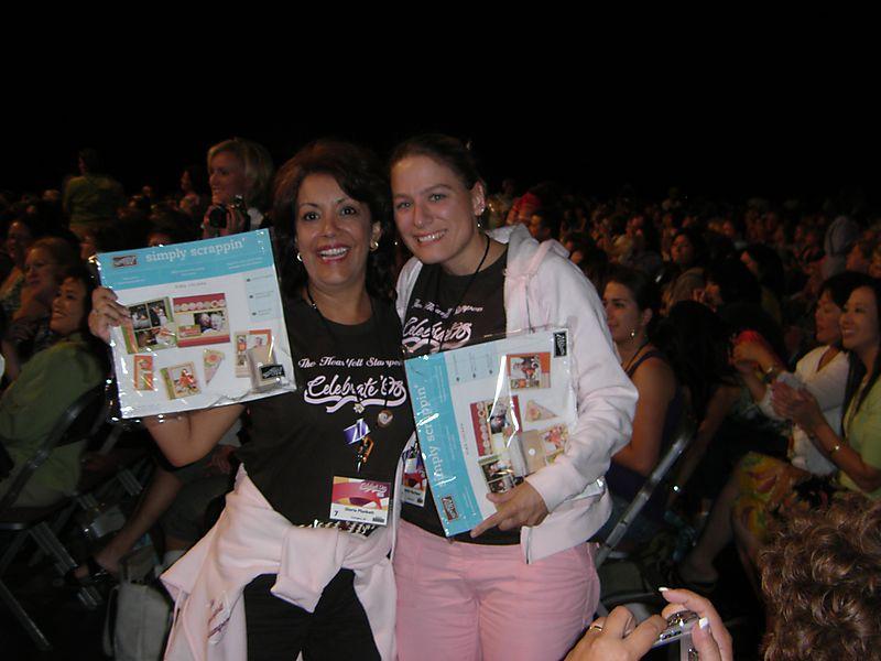 Jen and Gloria winning free stuff 2