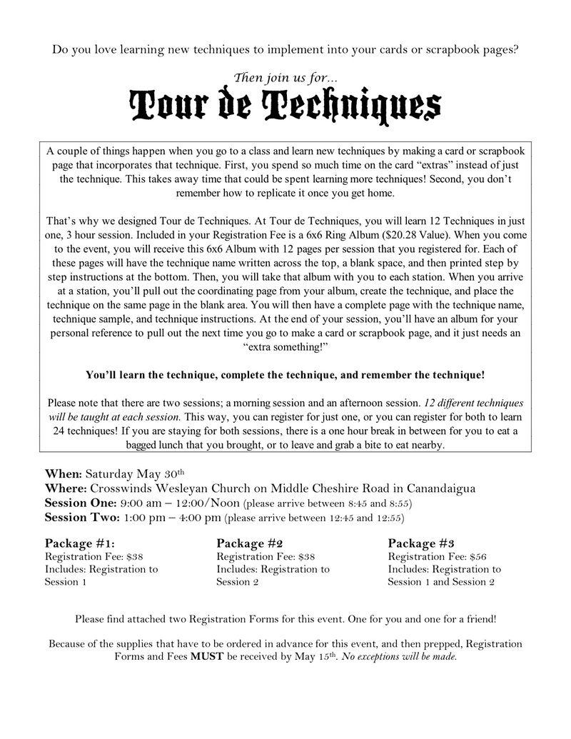 Tour de Techniques Flyer