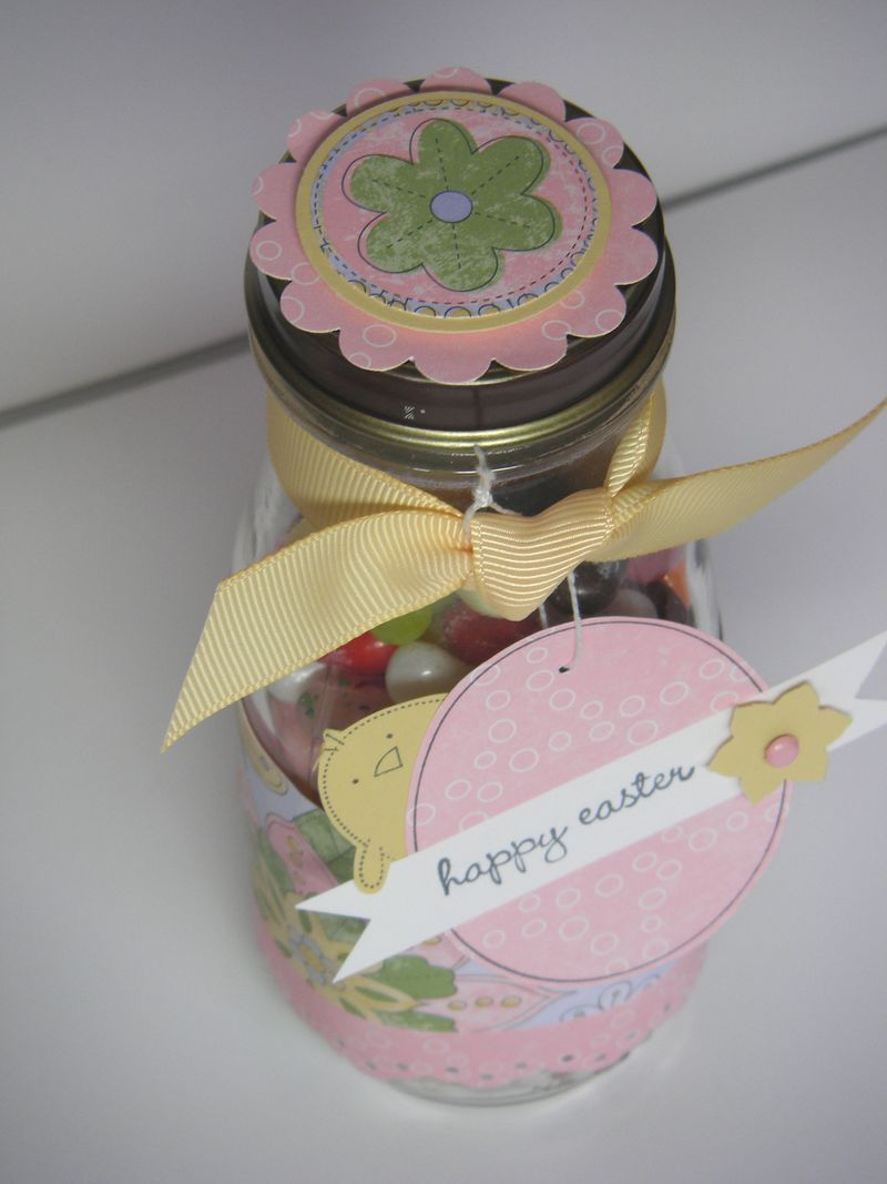 Easter jelly bean jar top
