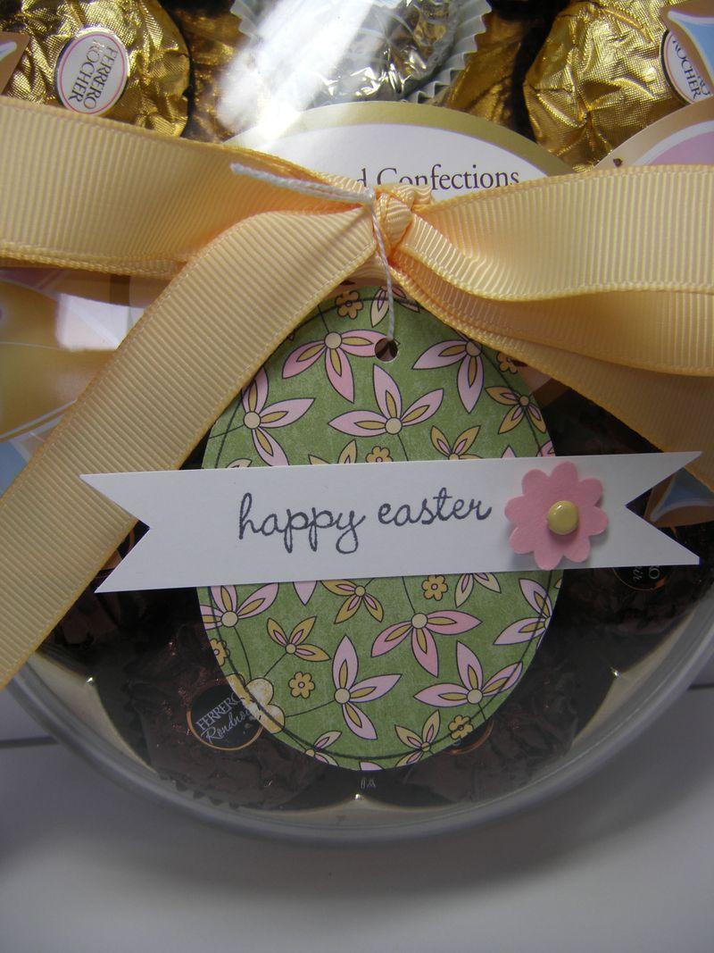 Easter tag closeup