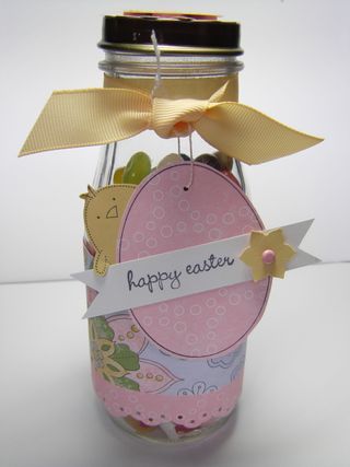 Easter jelly bean jar