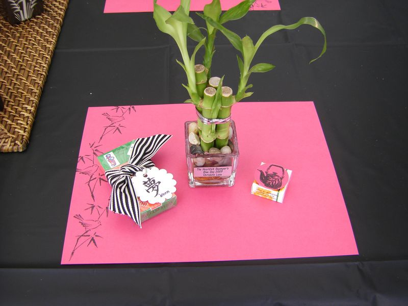 Place setting at tent
