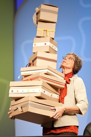 Shelli and boxes