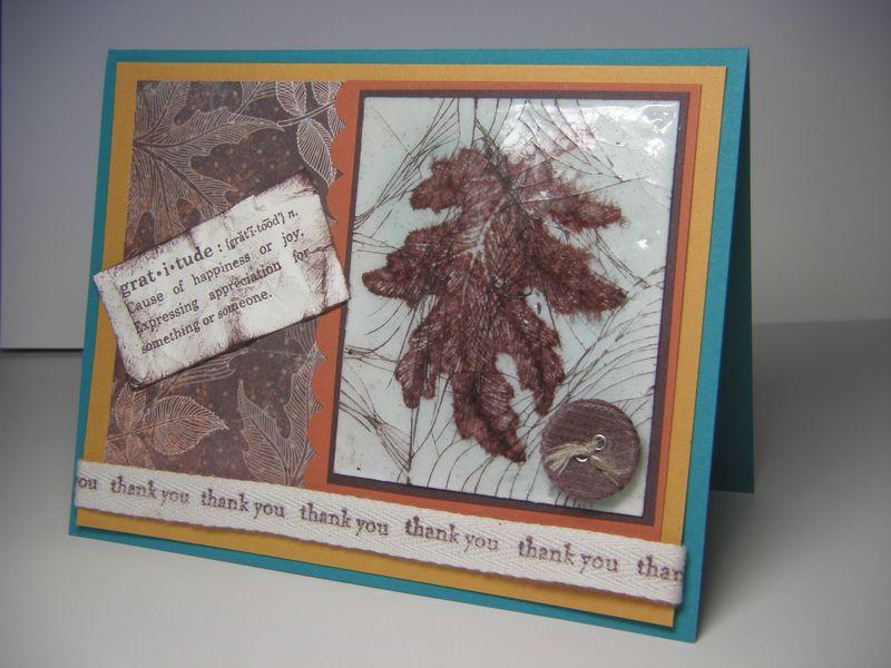 Cracked glass leaf
